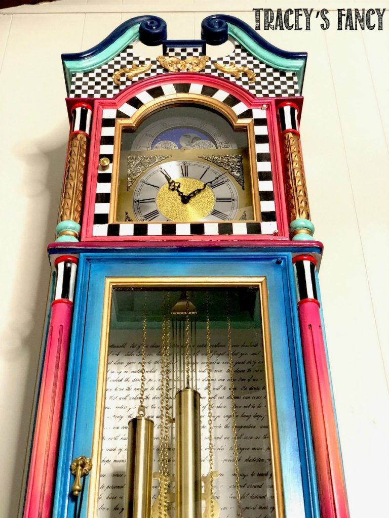 Whimsical Grandfather Clock by Tracey's Fancy