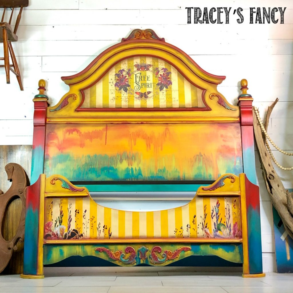 Yellow Boho Bed by Tracey's Fancy