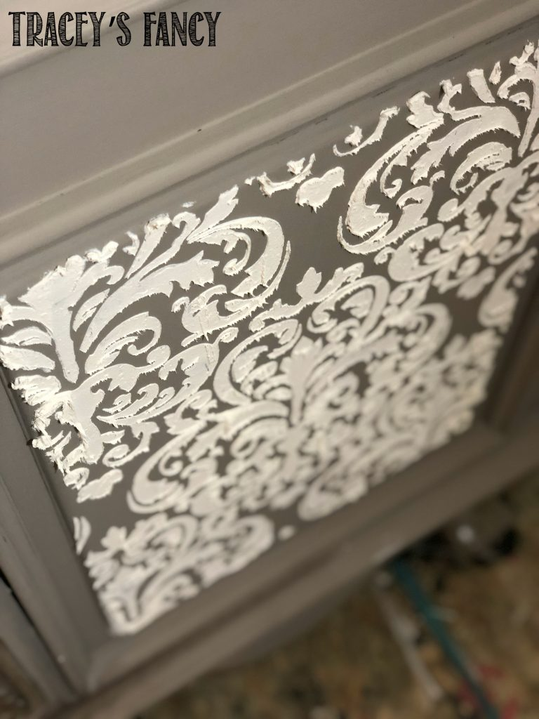 Water Washed Gray Armoire
