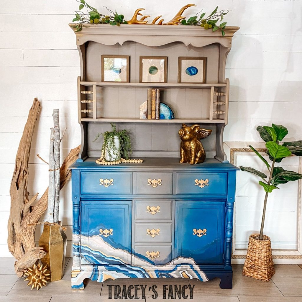 Geode Painting Hutch by Tracey's Fancy