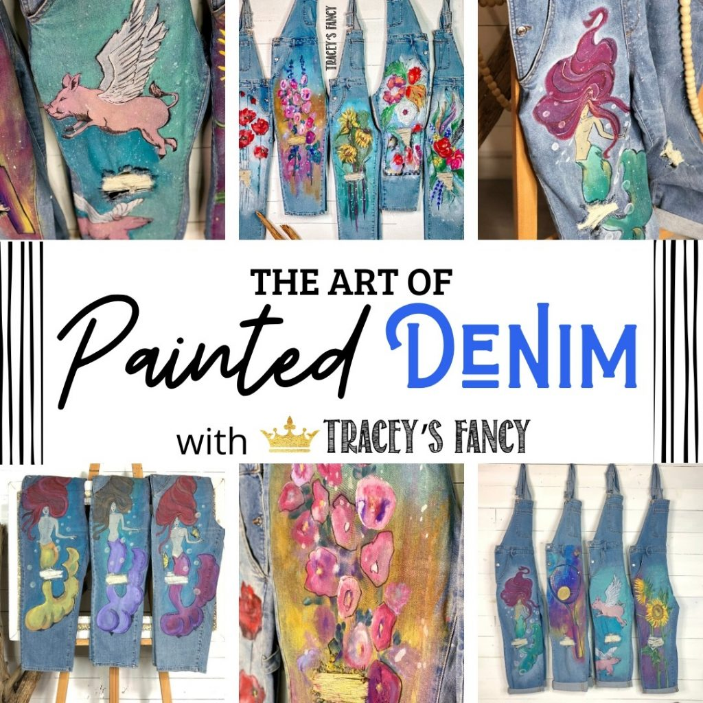 The Art of Painted Denim Jeans