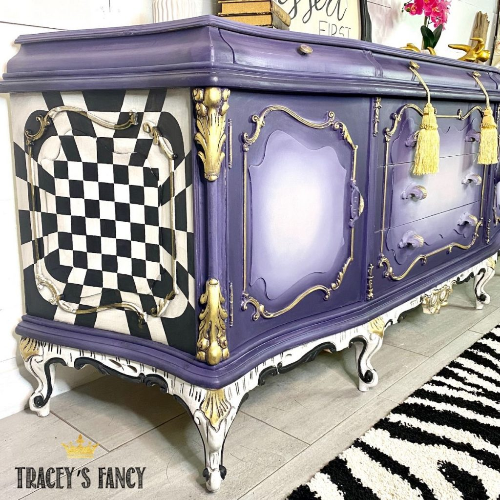 Whimsical Color Blended Dresser by Tracey's Fancy