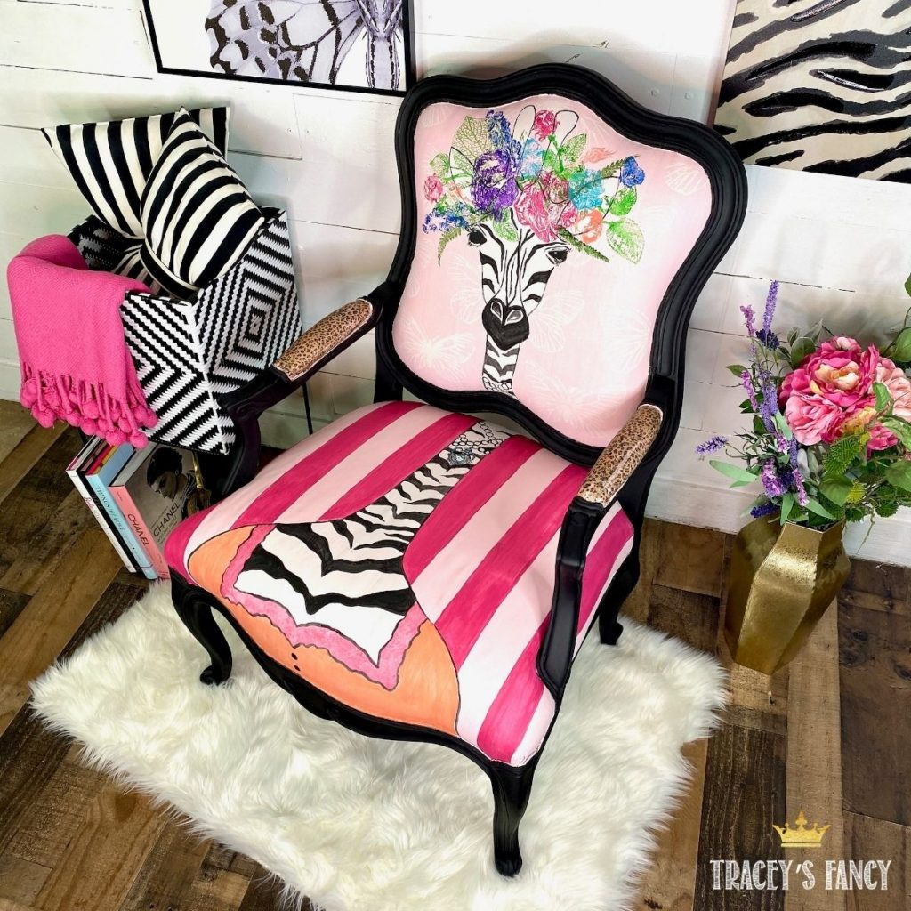 Painted Zebra Chair