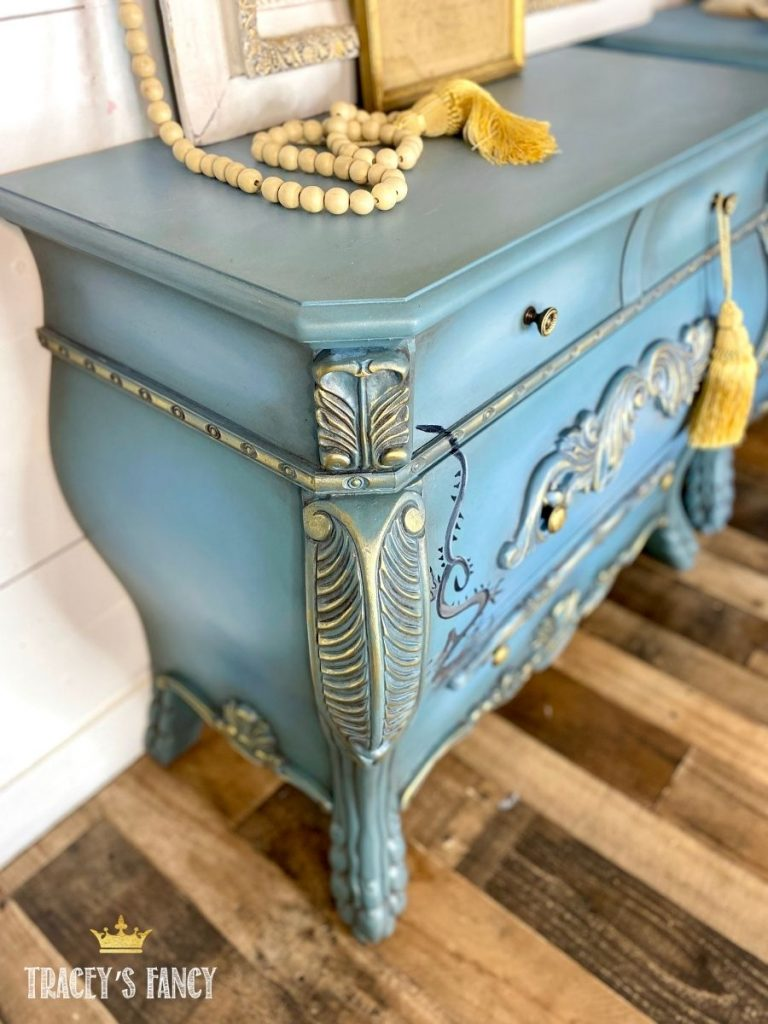 Chinese Dragon Nightstand by Tracey's Fancy