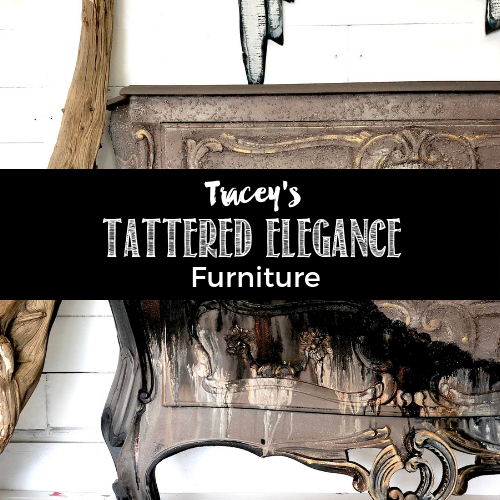 Tracey's Fancy Tattered Elegance Furniture Painting Tutorial