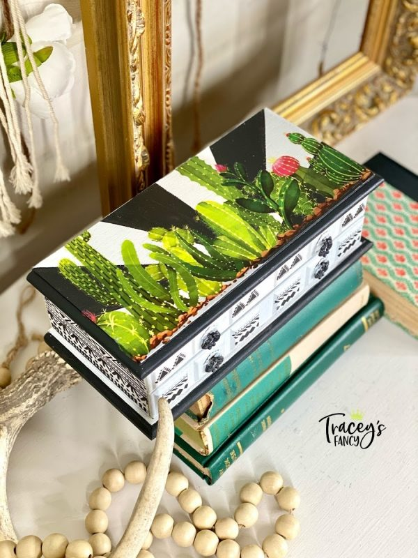 Cacti & Succulents Jewelry Box by Traceys Fancy