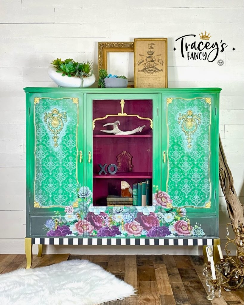 Green China Cabinet by Tracey's Fancy