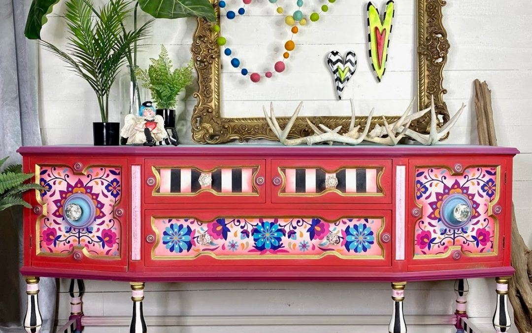 Latin Whimsy Antique Buffet