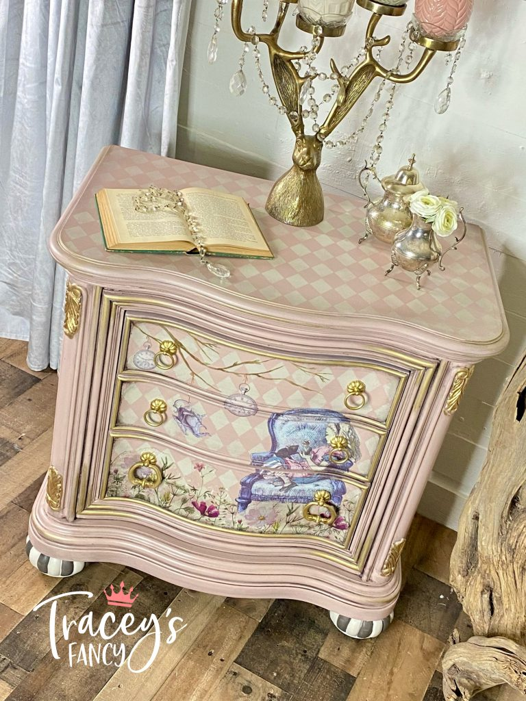 Whimsical Alice Nightstand by Tracey's Fancy