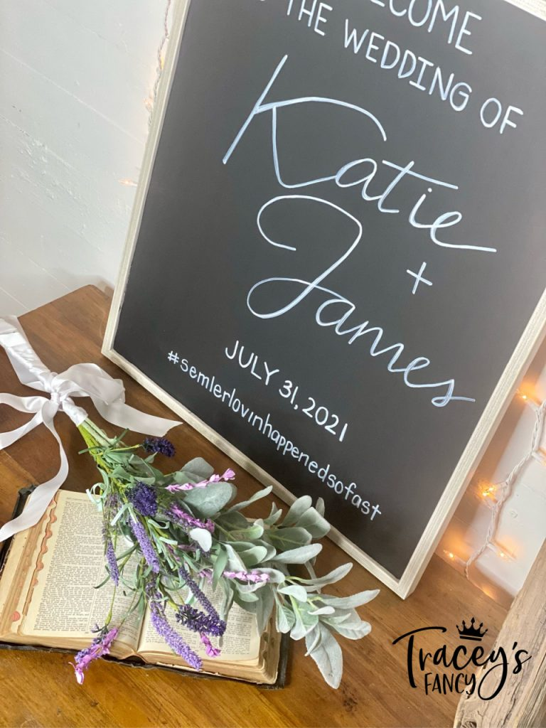 Wall Art Wedding Sign by Tracey's Fancy