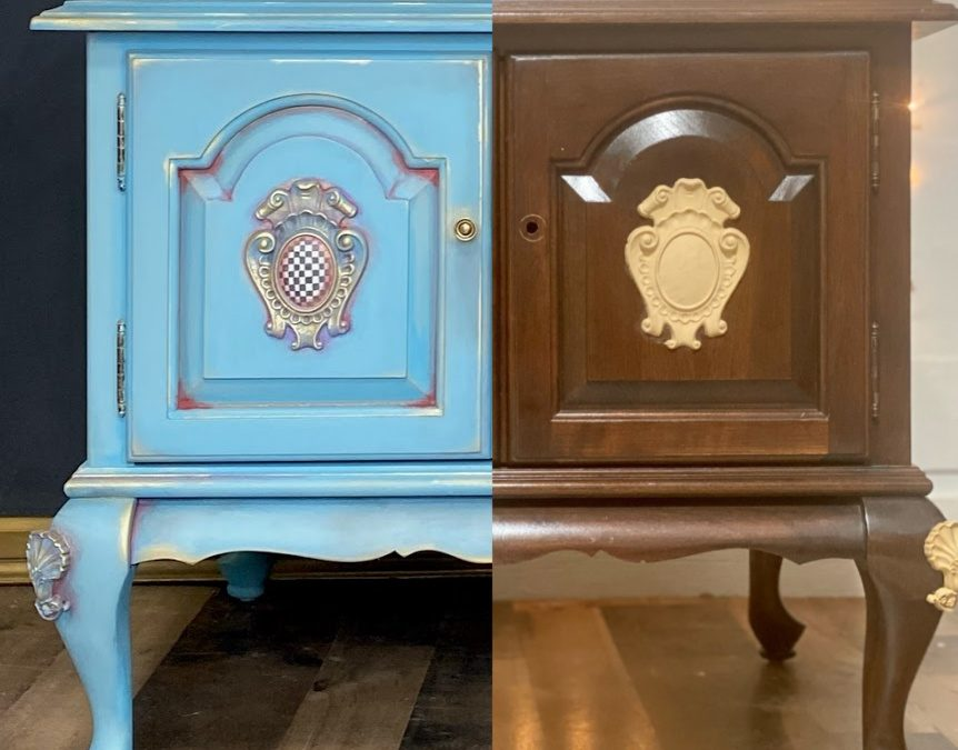 Paint Wash End Table