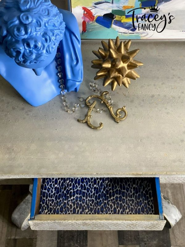 Faux Stone Table by Tracey's Fancy