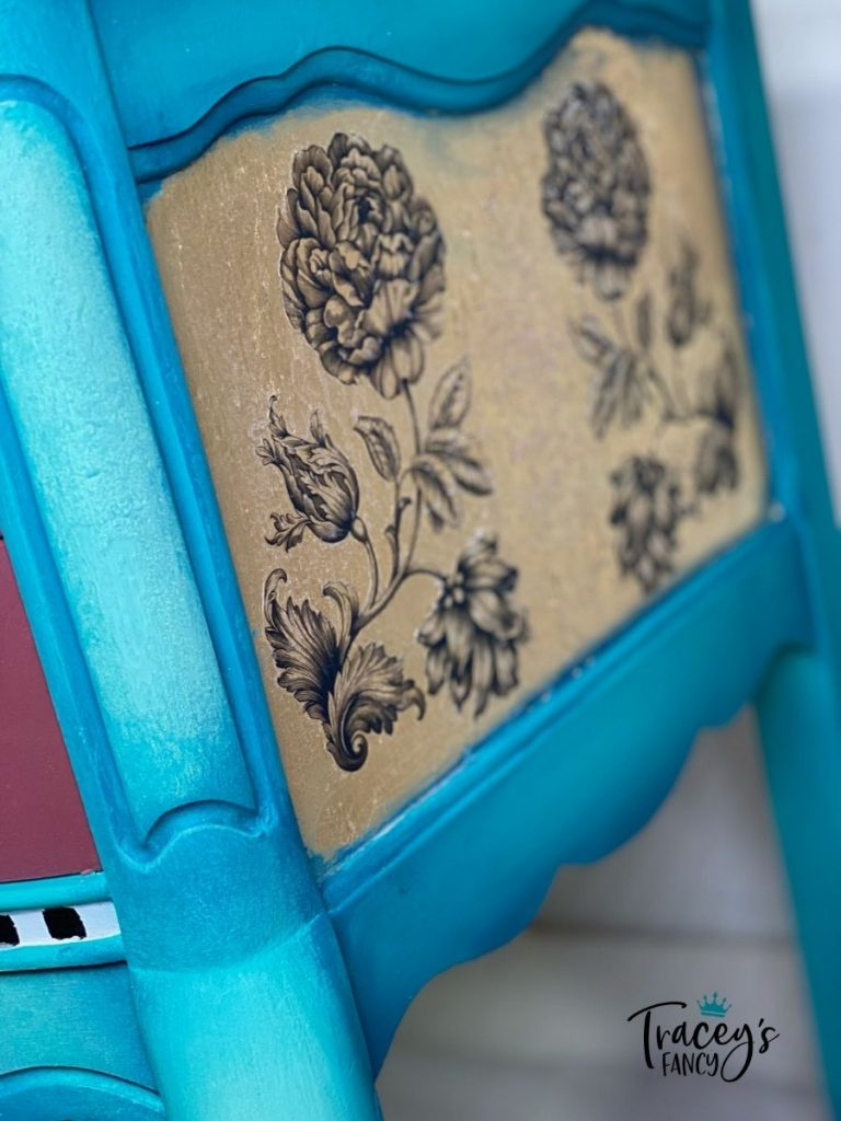 French Provincial Teal/Pink Vanity by Tracey's Fancy